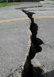 Image result for earthquake damage on road