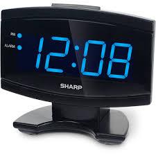 battery operated digital display wall clock battery operated digital display wall clock sharp blue led alarm clock black x good digital battery