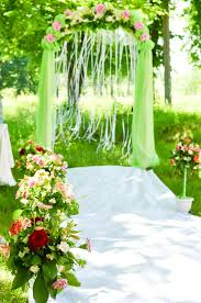 Wedding Ceremony Arch Decoration Stock Image Image of nature love