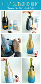 glittery champagne bottle easy homemade gift diy clubchicacircle