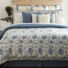 bluff point ralph lauren comforter set in blue and white for bedroom decoration ideas