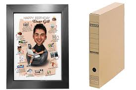 personalized gifts for boyfriend caricature poster