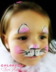 cute little cat face easy to paint