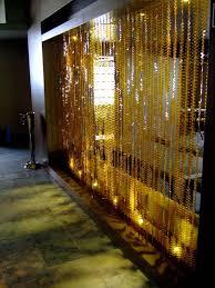 Designer Curtains In Bangalore Restaurant Partition Room Divider Topaz Leaf Bead Curtain