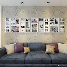 large wood photo frames gallery wall white modern style flat border wooden picture frame with paper mounts chic home decoration wall photo frame wood photo