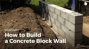 how to build a concrete wall diy projects