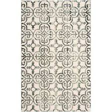 dip dye ivory charcoal 4 ft x 6 ft area rug