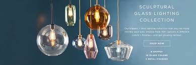 sculptural glass lighting collection