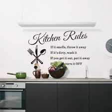 Small Picture Wise Kitchen Rules Wall Sticker Online Shopping Pakistan Nail