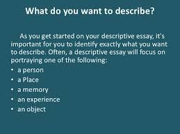 english descriptive writing how