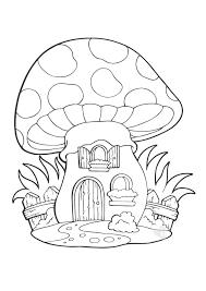 La Casa Fungo Da Colorare Bimbi Sani E Belli Con Disegno Neonato Da