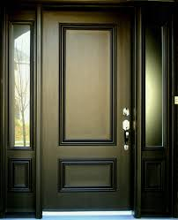 wood doors for modern exterior kitchen and front homes entry custom r with glass door stain