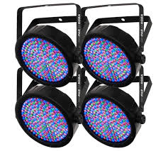 Chauvet Par 56 4 Light System 4 Chauvet Dj Slimpar 64 Rgba Led Dmx Compact Slim Par Can Stage Light Effects