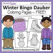 Hong kong bangkok singapore china. Winter Bingo Dauber Coloring Pages Free Printable