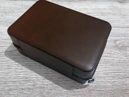 luxury leather watch case