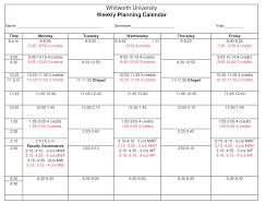 Blank Weekly Planners Printable Template Planner Meal Pdf Free 2018