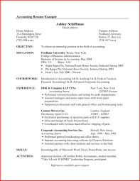 Accounting Certifications Best Of Objective Resume Samples Career 20