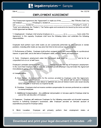 Free Employment Contract Templates Create An Employment Contract In Minutes Legaltemplates