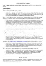 Annotated Bibliography Example Apa 6th Edition Format Essayist
