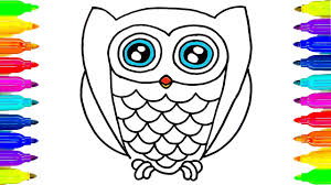 Small Picture How to Draw Owl Coloring Pages Drawing Ideas for Kids and