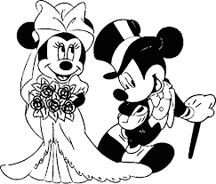 Cartoon Printable Disney Wedding Coloring Pages Coloring Tone