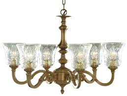 image of malaga solid antique brass chandelier