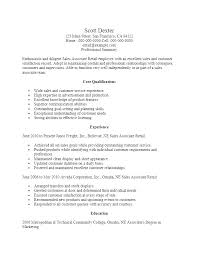 Examples Of Retail Resumes New Retail Sales Associate Sample Resume Letsdeliverco