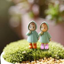 hot 1pcs cute mini figurines miniature mei resin crafts ornament fairy garden gnomes moss terrariums home decorations in figurines miniatures