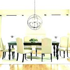 dining room chandeliers height chandelier living double standard over tab table engaging dining room chandelier height