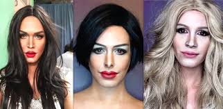 insram he 39 s no stranger to recreating creepily realistic celebrity looks guy uses makeup to