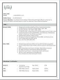 Resume Format For Ccna Freshers Resume Samples Resume Format For