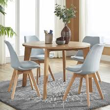 Arlo Round Light Oak 5-Piece Dining Set by iNSPIRE Q Modern - Free Shipping  Today - Overstock.com - 25554690
