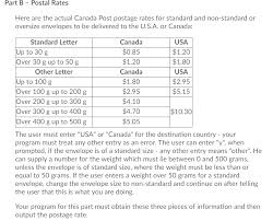postal rates here are the actual canada