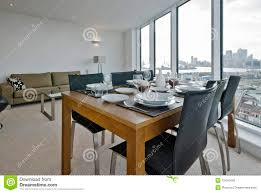 Living Room And Dining Room Furniture Living Room With Dining Table Set Up Royalty Free Stock Photo