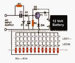 circuit diagram of emergency light the wiring diagram making an automatic emergency lamp using smd leds electronic circuit diagram