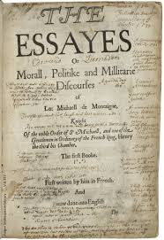 q a michael witmore director the collation title page of furthman s copy of montaigne s essays
