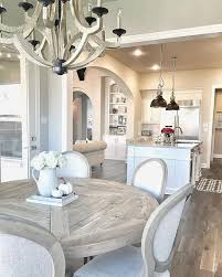 Farmhouse breakfast room and kitchen decorated for fall. Farmhouse ...