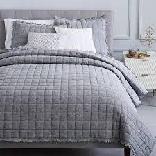 Modern Quilts & Coverlets | west elm & Belgian Flax Linen Melange Quilt + Shams Adamdwight.com