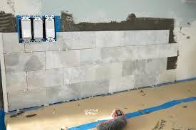 diy subway tile backsplash how to a tile easy diy subway tile backsplash