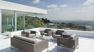 Exterior:Awesome Roof Terrace Design Ideas With Grey Leather Sofa And  Amazing Scenery Looking Awesome