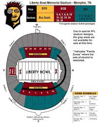 Liberty Football Seating Chart Xfl Memphis Maniax Liberty Field Seating Chart