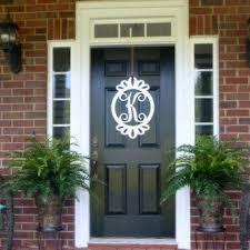 letters for front door23 Initial monogram front door wreath  from housesensation