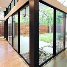 sliding glass door panels interior view of an mi windows and doors aluminum sliding glass door