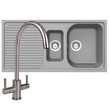 schock lithos d150 1 5 bowl grey granite kitchen sink reginox mixer tap