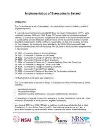 implementation of eurocodes in ireland