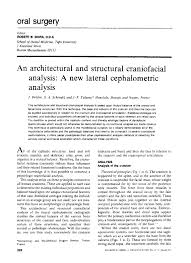 an architectural and structural craniofacial analysis a  an architectural and structural craniofacial analysis a new lateral cephalometric analysis j delaire
