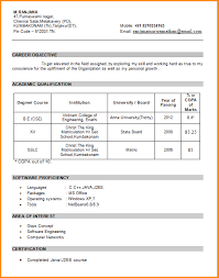 Resume Templates For Freshers Final See Samples Engineers Mla