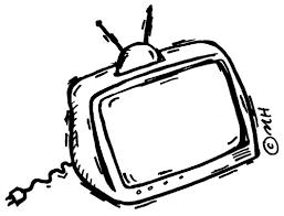 tv clipart black and white. clipart info tv black and white