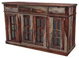 buffet with glass doors. Glass Buffet Solid Wood Rustic Sideboard With Doors Fronted Table