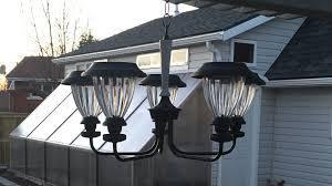 build a low cost diy outdoor solar chandelier